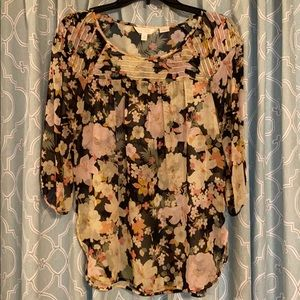 LC Conrad Floral Sheer Blouse
